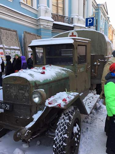 'Lifting of the Siege of Leningrad' parade, St Petersburg