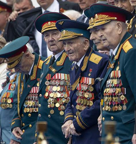 Soviet War Vets at the 74th Victory Parade in Red Square