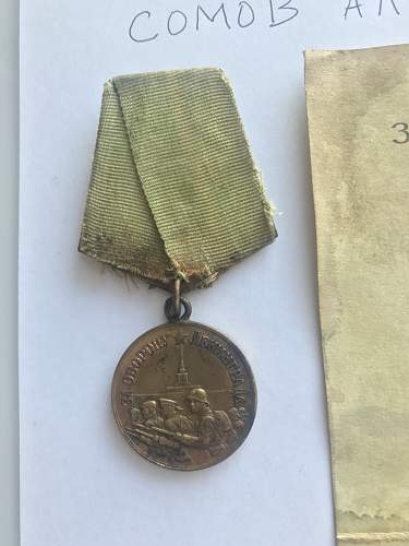 Can't find any info on the recipient of this Leningrad medal l?