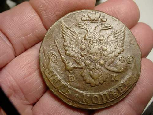 Very old large Russian coin 1785,info needed