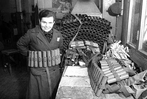 Photos of Soviet military industry being work