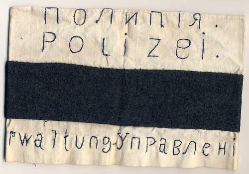 Soviet/ German Police armband?