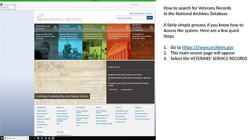 A Tutorial on how to search for US Service Members Records from the National Archives (NARA)