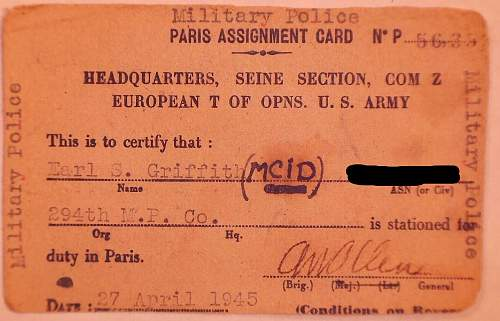 If Only You Were Here Mr. Griffith, This would be a piece of cake. April 20 1944?