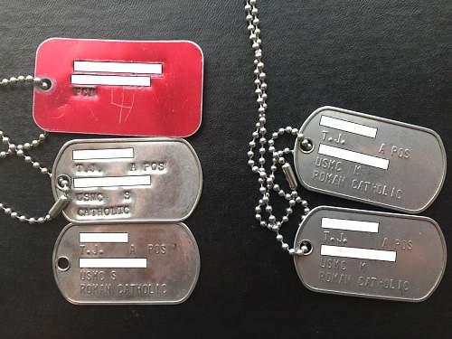 Help needed with USMC dog tags