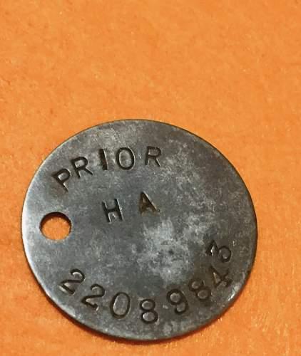 WW2 Dogtag to identify
