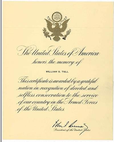 Click image for larger version.  Name:William Scott Tull - JFK Letter.JPG Views:666 Size:112.4 KB ID:149981