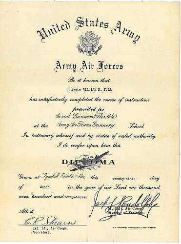 Click image for larger version.  Name:William Scott Tull - Army Air Forces Diploma.JPG Views:1079 Size:127.1 KB ID:149994