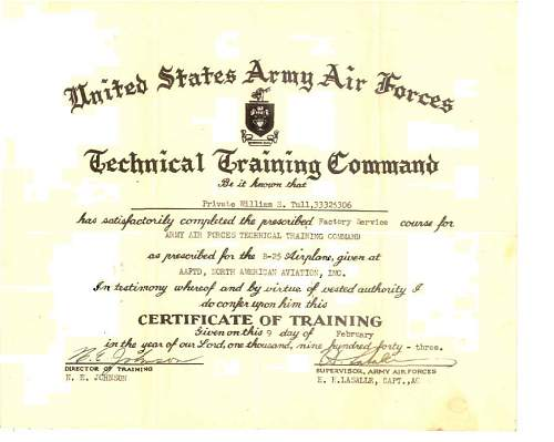 Click image for larger version.  Name:William Scott Tull - B-25 Technical Training.JPG Views:420 Size:83.4 KB ID:149995