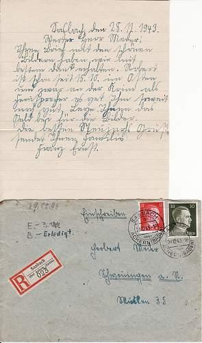 Translating letter, or even a little info...1943