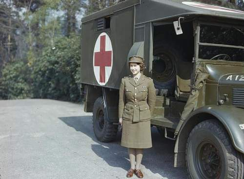 HRH Princess Elizabeth in the ATS