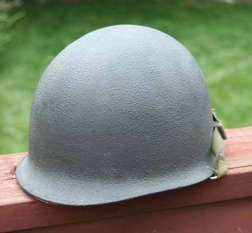 Photos of grey Navy M1 helmet in use?