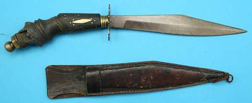 Searching for a sword, possibly Filipino