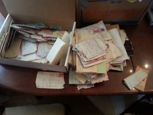 Bug haul of personal letters from WW2.