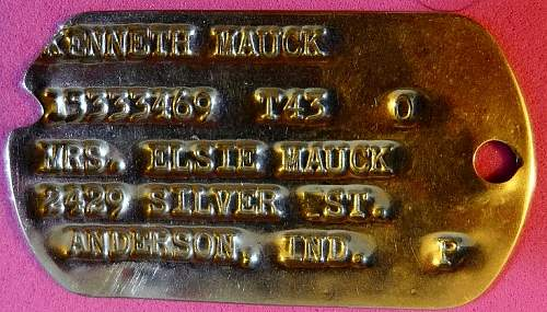 US dogtag from Belgium