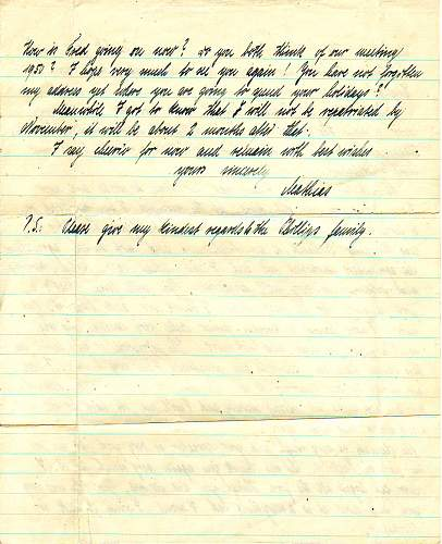 Letters from German POW's WW2