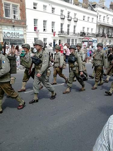 Weymouth 2014 Veterans/military parade!!!!!!