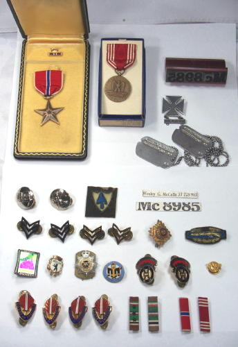 Military Police in Berlin: Wesley G. McCalla WWII steps