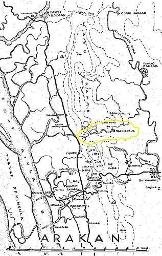 Burma, Ngakeydauk Pass Location
