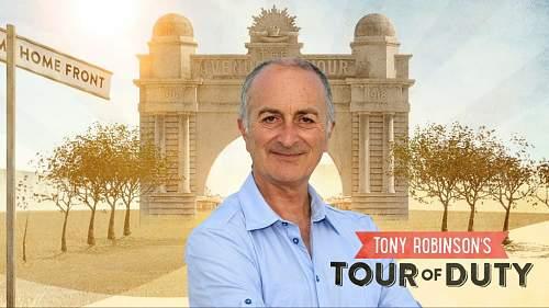 """Tony Robinsons """"tour of duty"""" Australian military history TV series"""