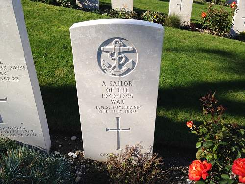 HMS Foylebank bombed in Portland Harbour 4th July 1940.