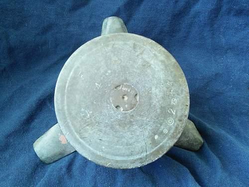 Small (ish) trench art ashtray.