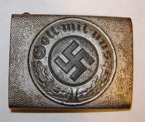Hitler Youth Leader's Buckle and Police Belt Buckle: Recently acquired pieces