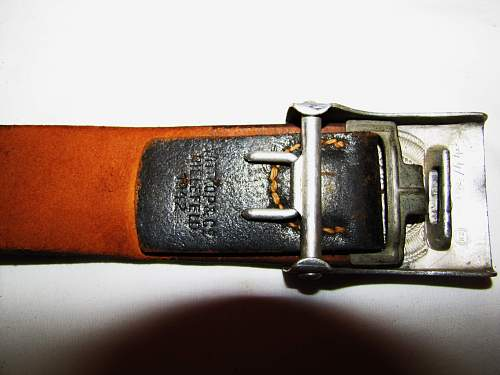 HJ Buckle with leather tab advice