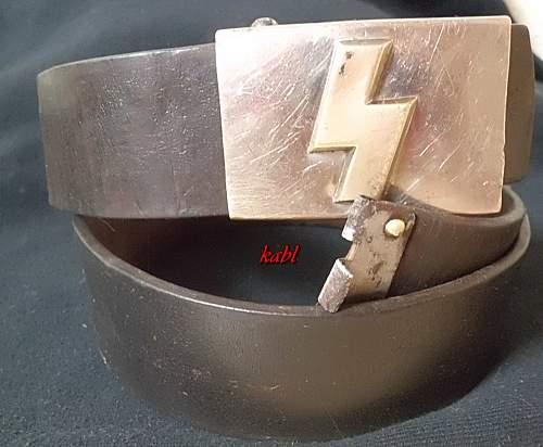 DJ small Buckle  und Belt