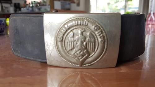 HJ buckle and belt