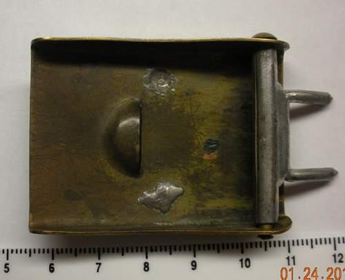 Miniature early HJ buckle?