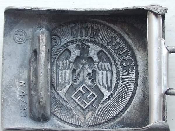 Hitler Jugend Buckle RZM M4/23