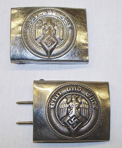 Two HJ buckles, one M4/23