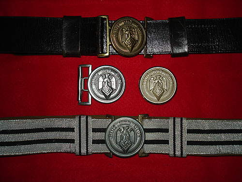 Hitler Youth Leaders Buckles