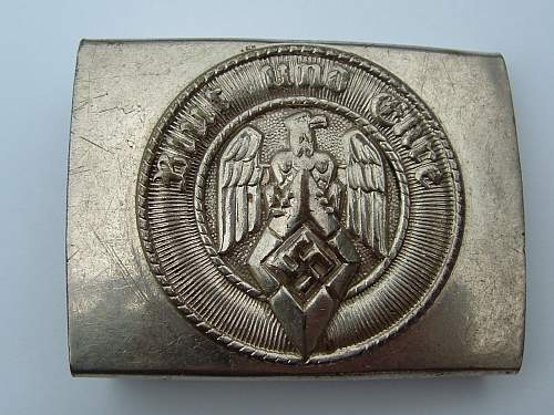 Click image for larger version.  Name:M4_39 Nickel over  brass F W Assmann & Sohne Ludenscheid HJ Buckle Front.jpg Views:150 Size:156.8 KB ID:433626