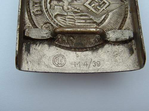 Click image for larger version.  Name:M4_39 Nickel over  brass F W Assmann & Sohne Ludenscheid HJ Buckle Makers.jpg Views:116 Size:136.2 KB ID:433627