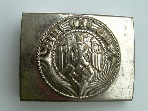 Click image for larger version.  Name:M4_39 Nickel over steel F W Assmann & Sohne Ludenscheid HJ Buckle Front.JPG Views:66 Size:125.1 KB ID:433629