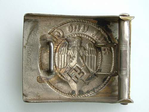 Click image for larger version.  Name:M4_39 Nickel over steel F W Assmann & Sohne Ludenscheid HJ Buckle Rear.JPG Views:95 Size:123.4 KB ID:433632