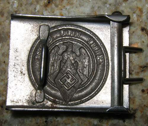 HJ M4/24 Nickel plated w/ belt