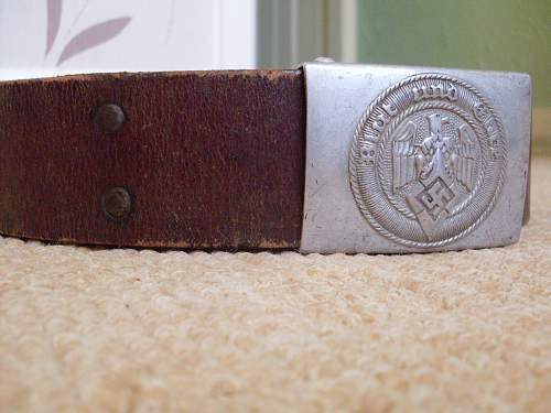 Hitler Jugend belt & buckle(original)?