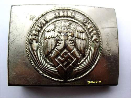 A GES. GESCH. A&S   HJ BELT BUCKLE, original or not ?