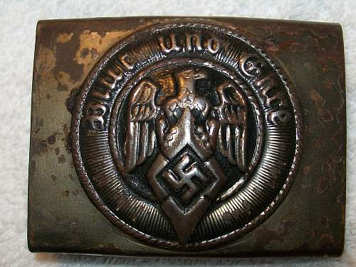 Possible Overhoff & Cie Hitler Youth Buckle M4/27