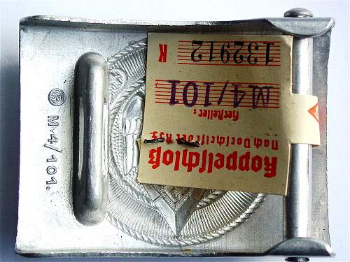 HJ Buckle marked Rzm 101 In Aluminum