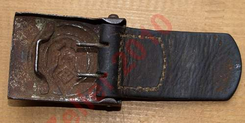 HJ buckle from JFS with leather tongue