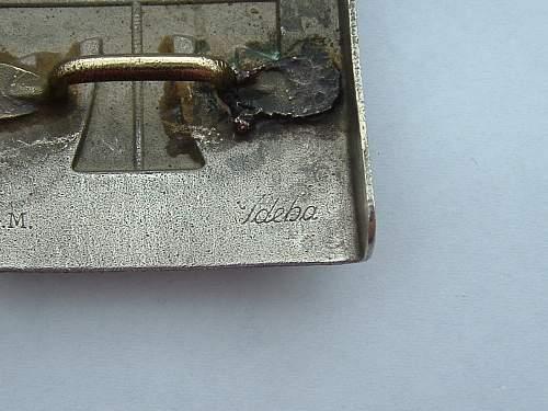 Click image for larger version.  Name:Nickel Turnerbund Buckle by J D Hagen Iserlohn Makers.jpg Views:22 Size:134.8 KB ID:841375