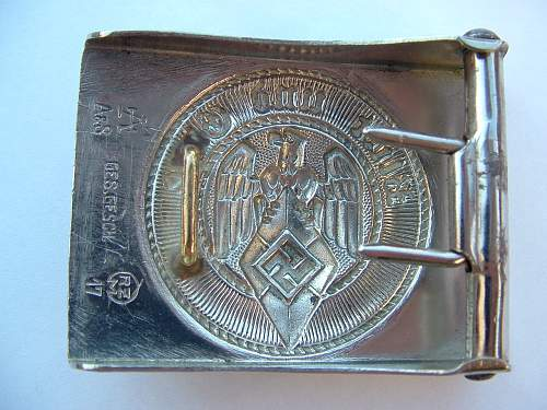 Click image for larger version.  Name:M4_39 Nickel HJ buckle by F W Assmann & Sohne Ludenscheid Rear.jpg Views:55 Size:154.8 KB ID:848375