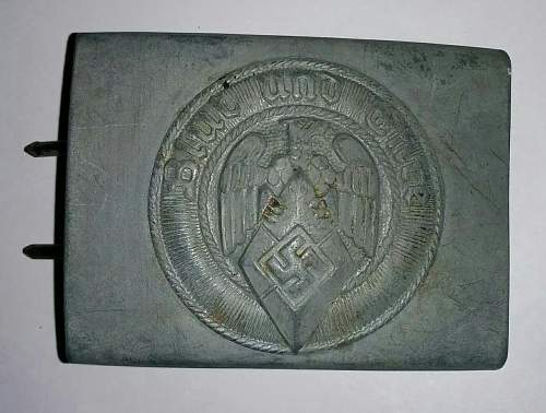 Click image for larger version.  Name:Hitler Youth Buckle.jpg Views:48 Size:210.8 KB ID:859031