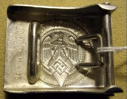 WWII vet bringback HJ buckle