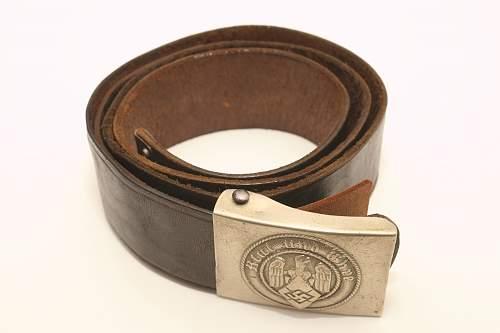 New HJ belt & buckle