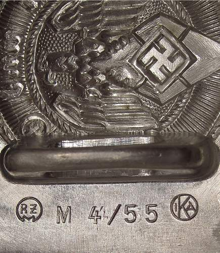 Hitler Jugend Buckle - M4/55 IKA Julius Kremp